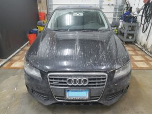 Audi in for Auto Detailing salt from Connecticut Roads